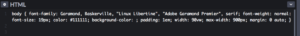 примеры CSS для использования в теге body