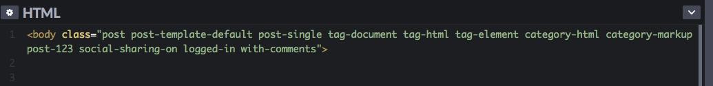 примеры CSS classes для применения в елементе body
