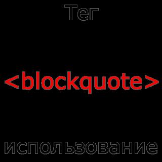 Применение тега blockquote HTML
