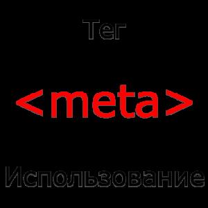 Применение тега meta HTML