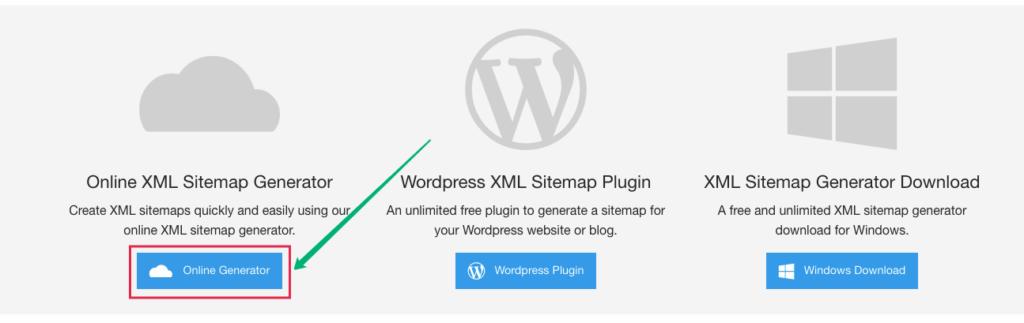 Использование XML Sitemap Generator