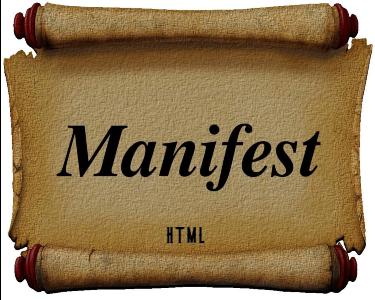 Атрибут manifest тега html